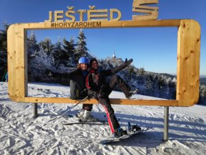 skiing in jested